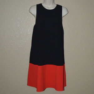 S Alice + Olivia Black Red Sleeveless Shift Dress